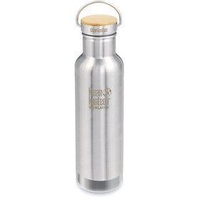 Klean Kanteen Reflect Vacuum Insulated Bottle Bamboo Cap 592ml, brushed stainless